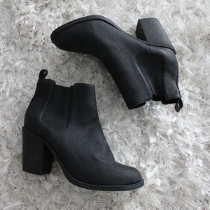 NWOT H&M Black Heeled Chelsea Ankle Boots